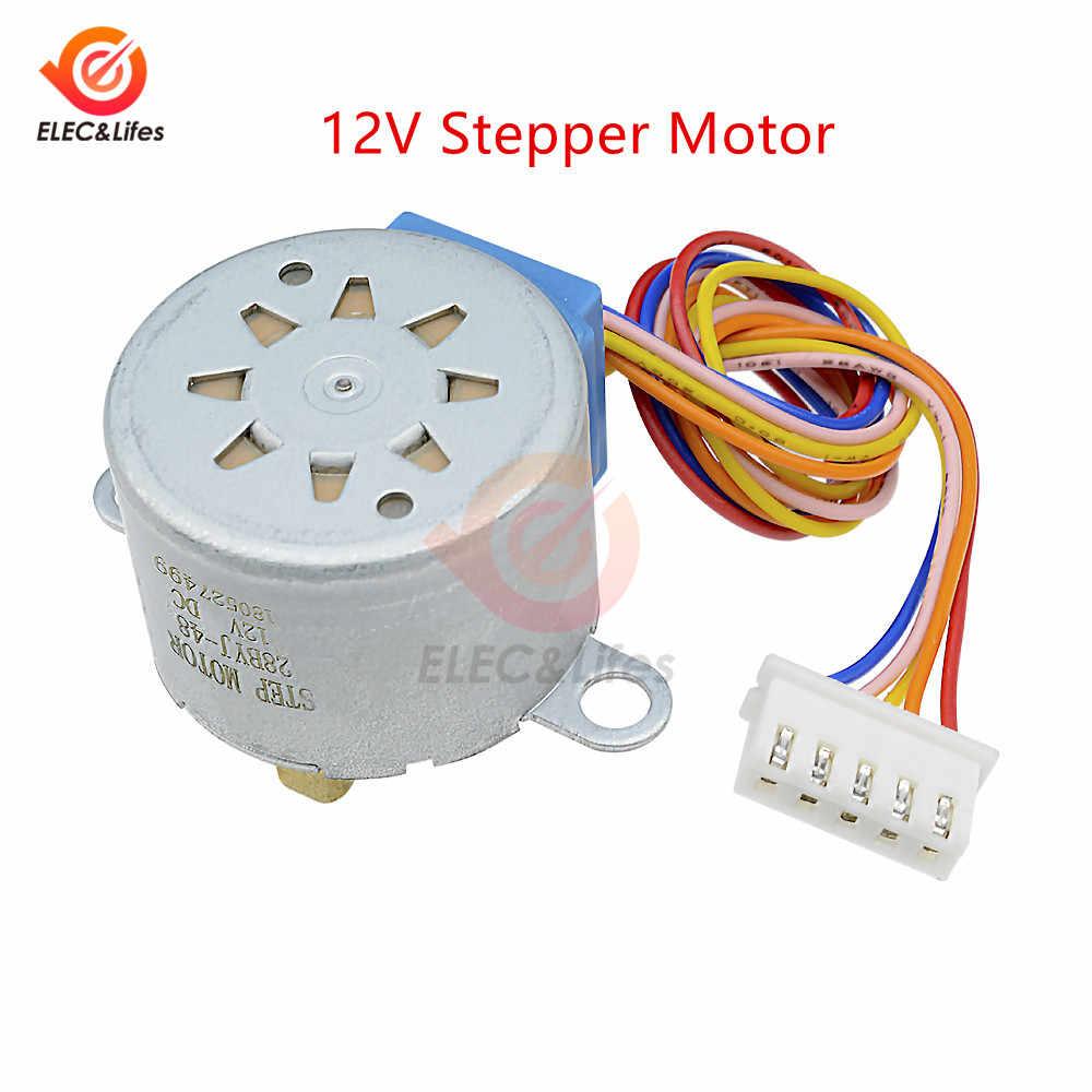 1 Set Electrónica Inteligente 28BYJ-48 5V 12V 4 fase DC paso a paso Motor + ULN2003 Placa de controlador para arduino DIY Kit