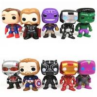 FUNKO POP 10pcs/set Avengers Super Hero Characters Model Vinyl Action Figures anime figure toys for children Description