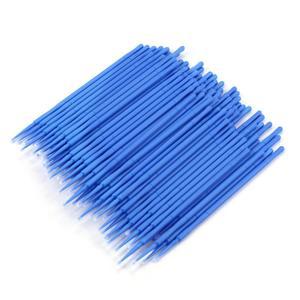Image 3 - 100 adet/şişe Microblading mikro fırçalar Swab Lint ücretsiz dövme kalıcı malzemeleri pincel maquiagem aplicador de sombra ojos