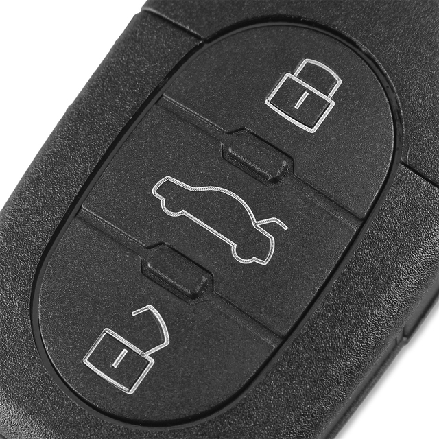 KEYYOU Replacement 3 Buttons Flip Car Key Case Shell Fob For Audi TT A4 A6 A8 Quattro With Blade CR1620