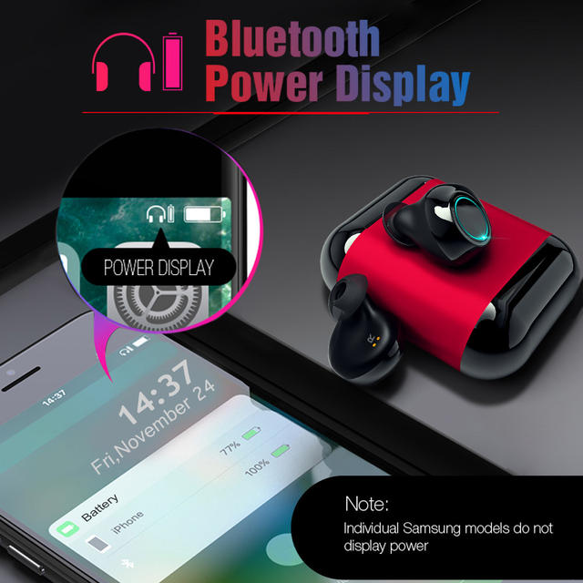 Bluetooth Headphones In-Ear With Mic and Charging Box