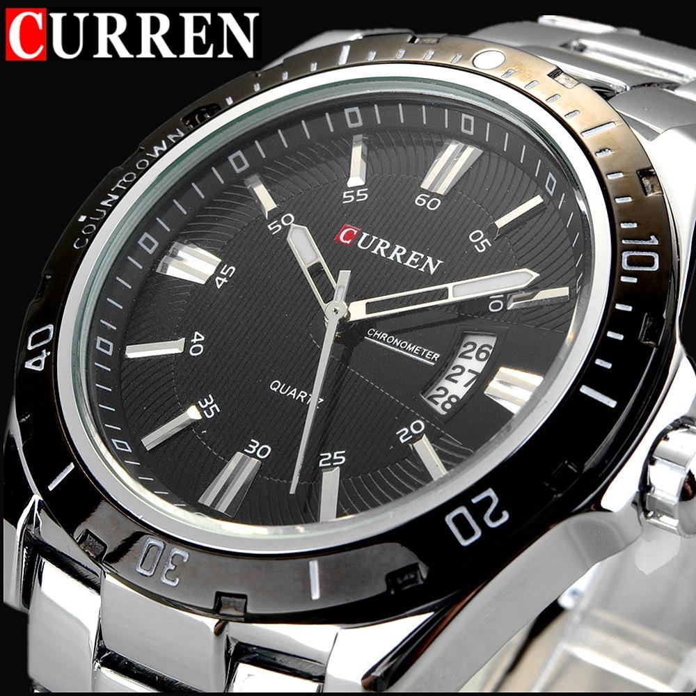 2017 CURREN Mens Watches Top Brand Luxury Quartz Watch Men Waterproof Sport Wach Casual Military Clock