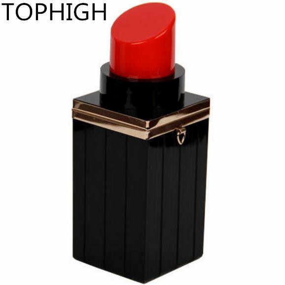 2017 Baru Wanita Gaya Eropa Retro Lipstik tas Tas Malam Tas wanita Utusan Tas ABS Plastik PVC Hitam Campuran Emas B695