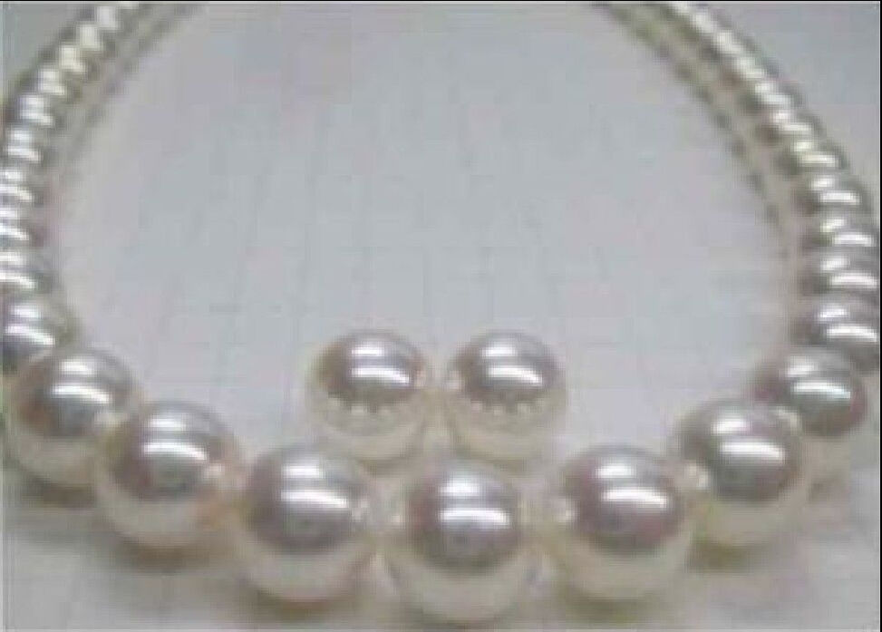 "Здесь продается  FREE shipping VERY CHARMING 18"" 10-11MM SOUTH SEA NATURAL WHITE PEARL NECKLACE EARRING  a()  Ювелирные изделия и часы"