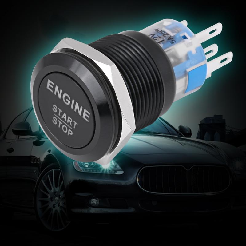 19mm Moment metal Power button switch Racing car motorcycle Engine