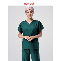Short sleeved hand washing clothes pure cotton suit men and women doctors operating room brush hand wear hospital uniform nurses