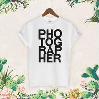 Photographer T Shirt Photo Session Image Digital Camera Gift T-shirt New funny text Tee shirt Fashion Simply Men's Clothes
