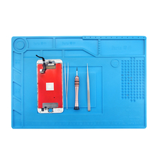 UANME S150 Magnetic Silicone Pad Hot Air Gun Station Heat Resistant Insulation Desk Mat Mobile Phone BGA Soldering Repair Tool