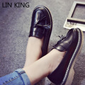LIN KING New Brand Women Casual Shoes Round Toe Thick Sole Tassel Solid Ankle Shoes Low Top PU Slip On Massage Outdoor Shoes