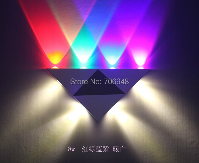 8W LED wall lamps Red/Blue/Green/Purple/Warm white Color AC90-265V 320*165*30MM silicone jigsaw pattern cover creative notebook red white green purple