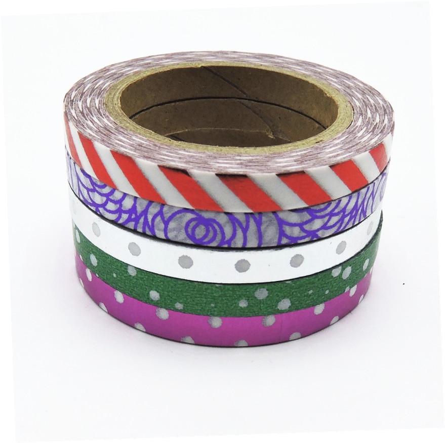 5pcs set foil washi tape set japanese stationery for Decoration tape