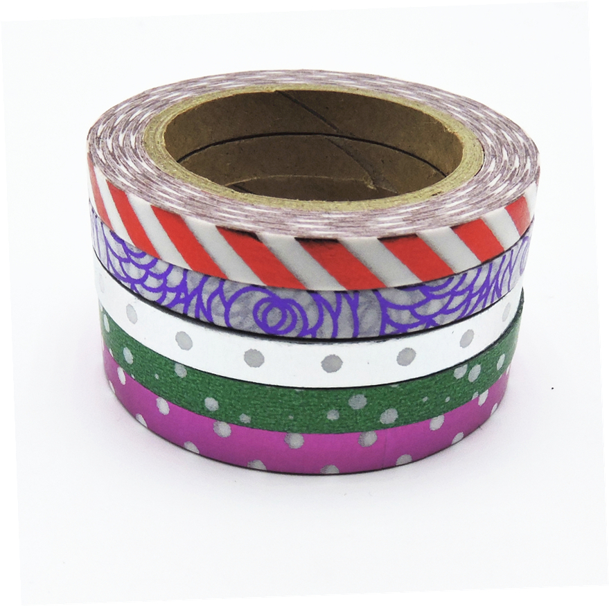 (5pcs/Set) Foil Washi Tape Set Japanese Stationery Scrapbooking Decorative Tapes Adhesive Tape Kawai  Quality