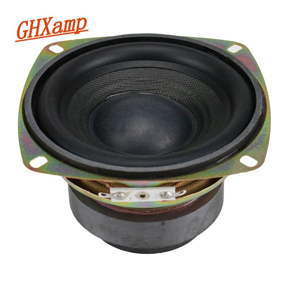 GHXAMP 4 Inch Subwoofer Speaker Unit 8ohm 30W Hifi Woofer Loudspeaker Deep Bass Soundbox Long Stroke Double Magnetic 1PC ghxamp 120mm 5 inch bass speaker unit 4ohm 30w 2 way diy woofer speaker subwoofer car home made loudspeaker 1pc