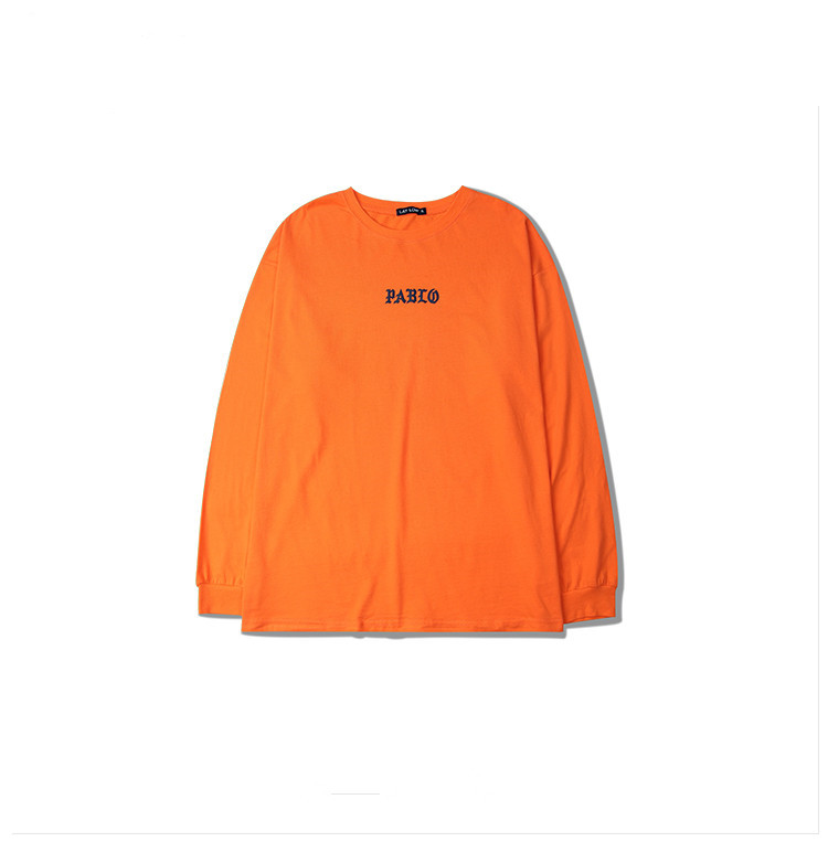 HTB18A0EQVXXXXatXXXXq6xXFXXXT - Brand Kanye West T shirt I Feel like Pablo Kanye Orange Tee PTC 107