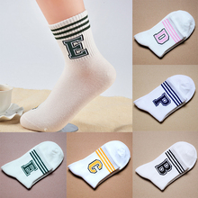 1 Pair Comfortable High Quality Autumn/Winter Women Sports Socks Stripe Socks Letter Sweat Ventilation