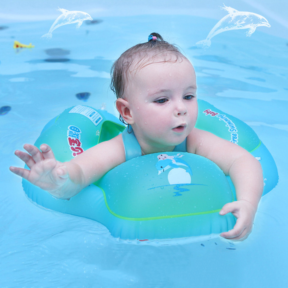 Baby Inflatable Circle Swimming Pool Accessories Baby Float Swimming Ring Infant Armpit Floating Bathing Inflatable Rings Toy