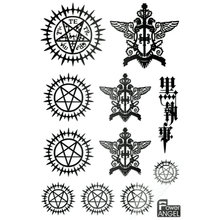 11pcs/set Luxury Anime Kuroshitsuji Black Butler Book of the Atlantic DIY 3D Metal Stickers For Phone Laptop Fridge Stiker Toy