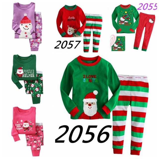 bb7809ea95b5 New Latest Christmas Children s Pajamas Set Boys Girls Cotton New ...