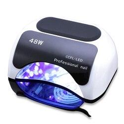 Professionelle 48 W UV Lampe Nagel Trockner Für Nagel Gel Curing LED Nagel Lampe Trockner Kunst Maniküre Automatische Sensor nagel Werkzeuge