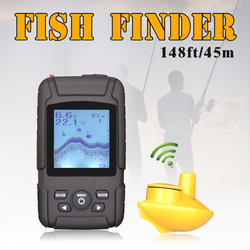 Waterpoof Russian Wireless Fish Finder 125KHz Frequency Bottom Contour 0.6-45M Fishfinder Sensor Fishing Camera FFW718LiW
