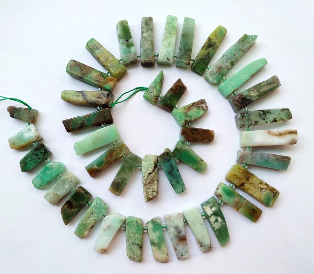 Natural Chrysoprase Australia Jad Stone bead pendant Necklace bead for Gem jewelry diy 1strings length 16inch bead bar layered pendant necklace page 7