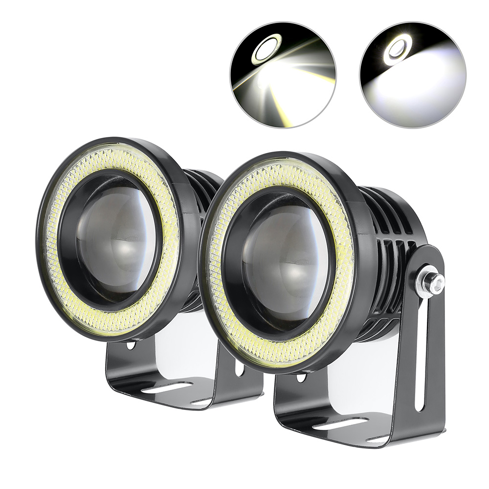 2 5 Inch 30W COB Angel Eyes Fog Lights Led Car Headlight font b Lamp b