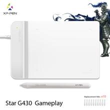 Die XP-Stift G430 4×3 inch Ultradünne Grafiktablett Zeichnung Tablet/Stift Tablet für OSU mit batterie-freies stylus gestaltete Weiß