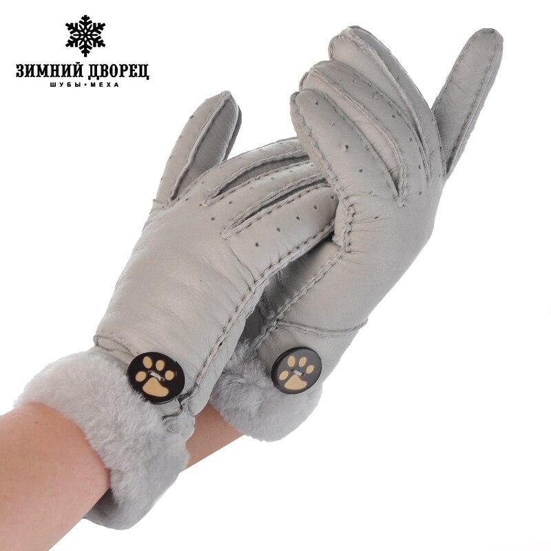 Chaud hiver 2016 gants manuel marque de mode mitaines mâle hiver mitaines mâle gants en cuir gants en peau de mouton mâle de fourrure