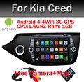 Quad Core 8 ДЮЙМОВ 1024*600 Android 5.1.1 для Kia CEED 2013 2014 2015 Dvd-плеер Автомобиля GPS Радио WIFI Bluetooth Карта Ipod USB Аудио