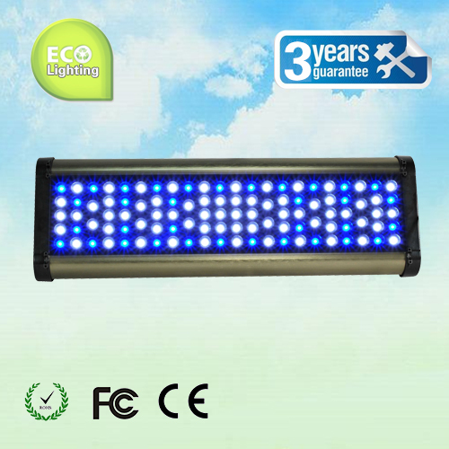 Phantom LED aquarium light 300W, with remote control dimming& timing, blue: white =1:1/ 2:1/ 1:2, for coal reef, customizable