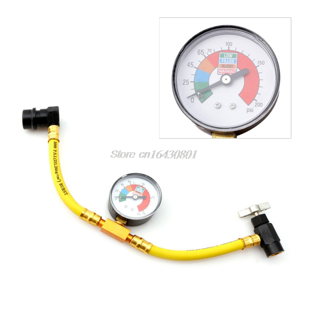 R134a Refrigerant Recharge Hose Can Tap Car Air Conditioning Pressure Gauge New S08 Drop ship