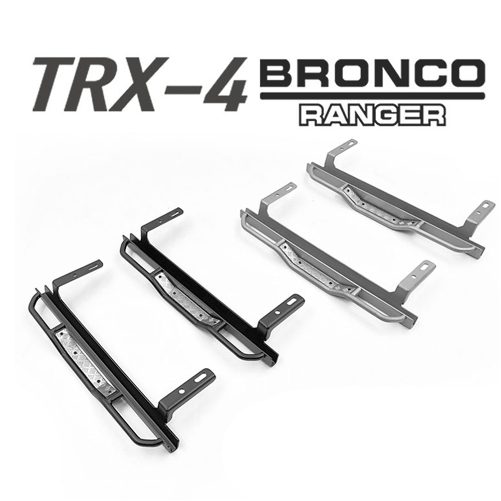 2pcs RC Car Side Footplate Footboard For Traxxas 1/10 Rock Cralwer Trx4 Ford Bronco Ranger Defender D110 Fixed Protective Part hpi king 1973 ford bronco