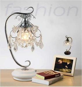 Image 4 - Artpad lüks kristal masa lambaları yatak odası için Modern düğün dekorasyon LED dim masa lambası başucu oturma odası aydınlatma