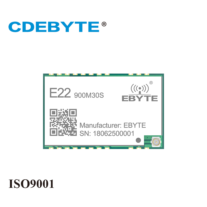 CDEBYTE E22-900M30S SX1262 30dBm 915MHz SMD Wireless Transmitter Receiver Stamp Hole IPEX Antenna SPI Long Range Rf Module