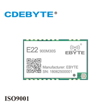 CDEBYTE E22-900M30S SX1262 30dBm 915MHz SMD Wireless Transmitter Receiver Stamp Hole IPEX Antenna SPI Long Range rf Module cdebyte e10 915ms30 1w smd spi 915mhz si4463 si4463 rf wireless receiver module transmitter module