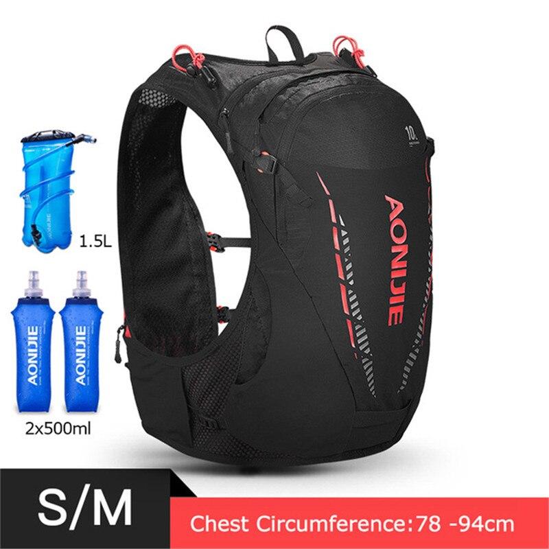 Sac à dos léger d'hydratation 10L sac à dos sac à dos vessie d'eau randonnée course Marathon course cyclisme sac à dos AONIJIE C948 - 2