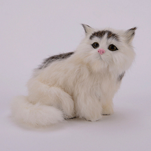 Simulation white cat polyethylene&furs cat model funny gift about 15cmx9cmx13cm