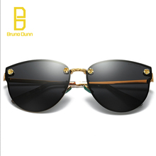 New Cat Eye Women Sunglasses 2017 Brand Designer Metal Retro Rimless Sun Glasses For Female Oculos De Sol Feminino ray With Case