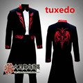 Magic tuxedo male costume married master of ceremonies services umbrella props show prom wedding party performance stage jacket