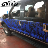 blue black PIXEL Camo Vinyl For Car wrap Digital Camo Car Sticker Motorcycle Bike Vehicle Wraps ORINO 1.52*5/10/15/20/25/30M