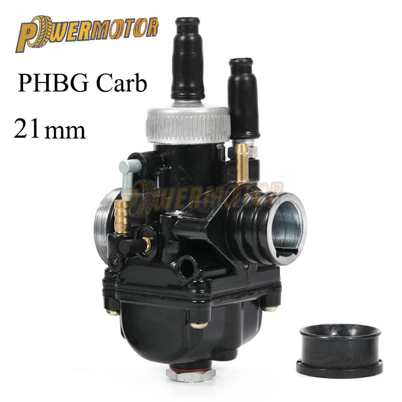 Carburateur de course 21mm carburateur noir carburateur avec prise d'air pour Dellorto PHBG DIO JOG 50cc 90cc BWS100 pour Puch Yamaha Zuma