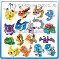 Mini Qute LNO Kawaii 22 tipo de juegos de Anime de dibujos animados pokemon pikachu Charmander Squirtle modelo de bloques de construcción de plástico juguetes educativos