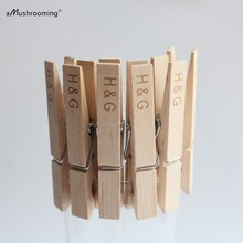 100 Custom Name Wedding Clips Birthday Clothespins with Personalized Lettering card holders For Wedding Party Supplies