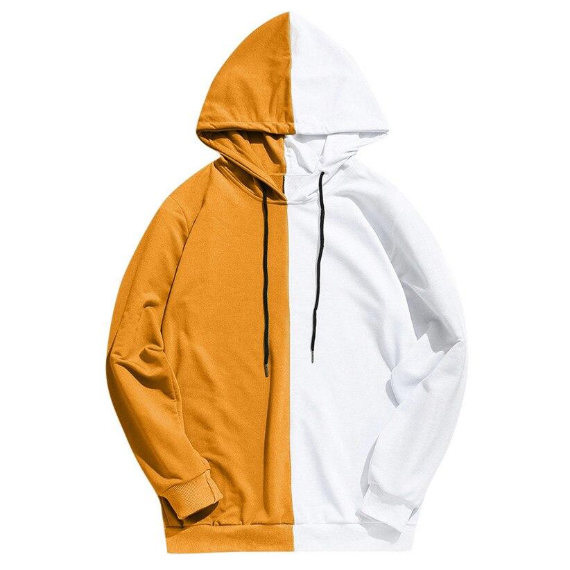 Topdudes.com - Men's Patchwork Hoodie Sweatshirts