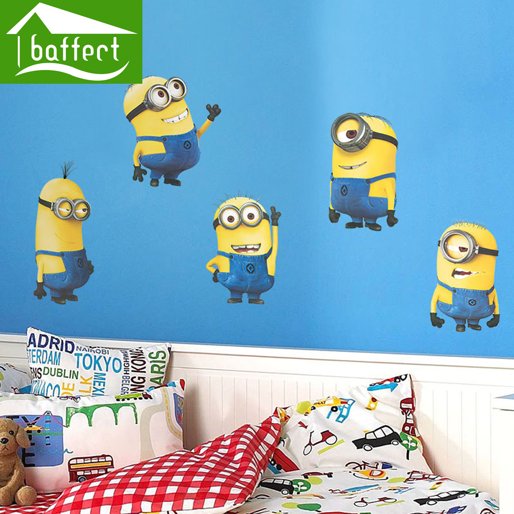 Lovely Yellow Minion Stickers Wallpaper Poster Living Room