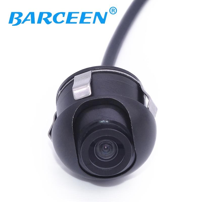 Promosi CCD HD malam penglihatan kereta belakang pandangan kamera paparan depan sisi paparan monitor belakang untuk 360 darjah Putaran Universal fit