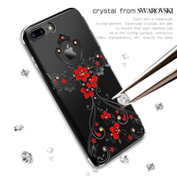 Original Kingxbar Crystals Electroplated PC Case From Swarovski Rhinestone Case Cover SFor Apple Iphone 7 7