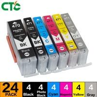 24X Compitalbe for Canon pixma MG5740 printer MG6840 MG7740 MG5440 IP7240 TS5040 TS6040 Inkjet Cartridge PGI470 Ink cartridge