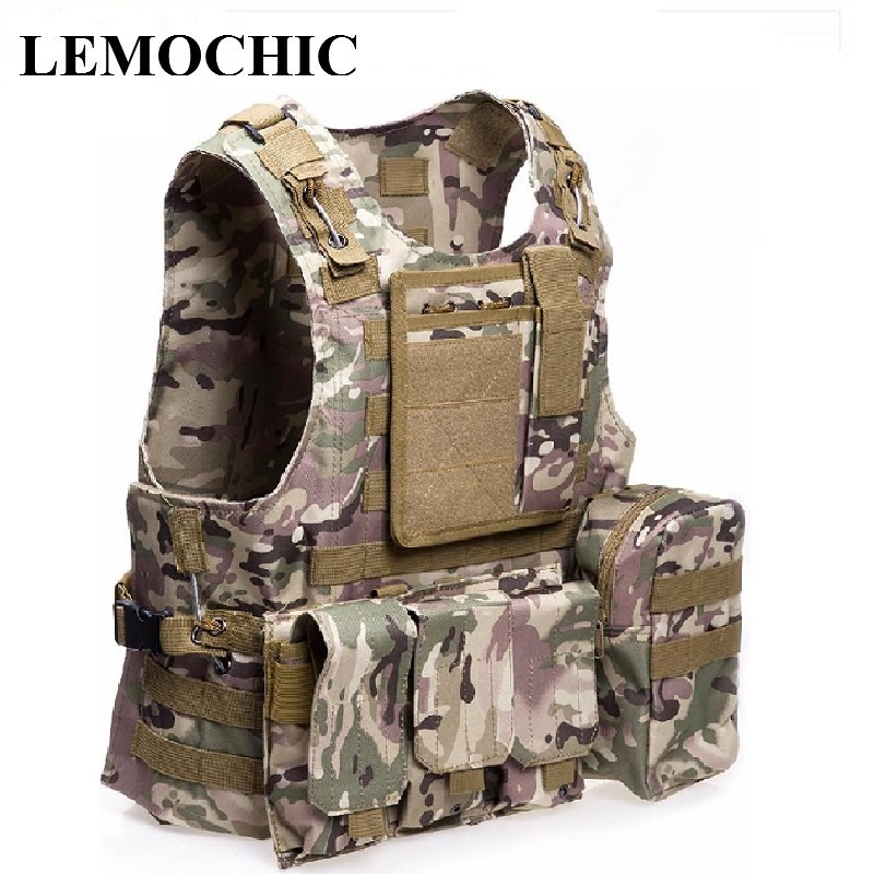 LEMOCHIC Tactical vest outdoor Camouflage amphibious Counterterrorism Military Protective Training combat Hunting Airsoft molle new black army cs tactical vest military protective combat camouflage molle vest outdoor hunting training tactical vest
