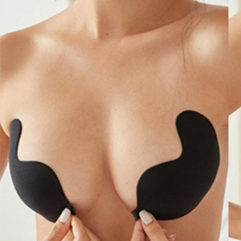Women's Invisible Bra Seamless Push Up Silicone Self-Adhesive Front Closure Strapless Breast Lift Tape for Celebrate Tube Dress 1